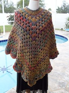 Crochet poncho inspiration only
