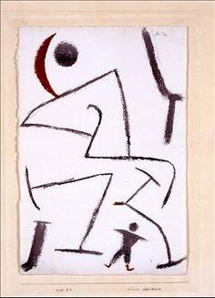 Paul Klee 'Little Adventurer' 1938 Watercolor on paper mounted on cardboard… Painting For Kids, Painting & Drawing, Children Painting, Modern Art, Contemporary Art, Paul Klee Art, China Art, Aboriginal Art, Watercolor Art