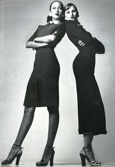 Vogue Italia March 1972 Apollonia van Ravenstein and Pat Cleveland repinned by www.lecastingparisien.com