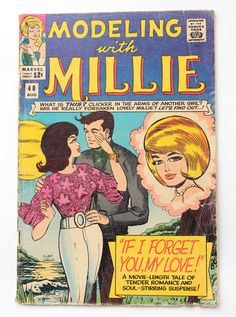 ...modeling with millie comic book 1963