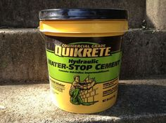 fix small concrete cracks in less than 5 minutes, concrete masonry, home maintenance repairs, how to, Hydraulic Cement