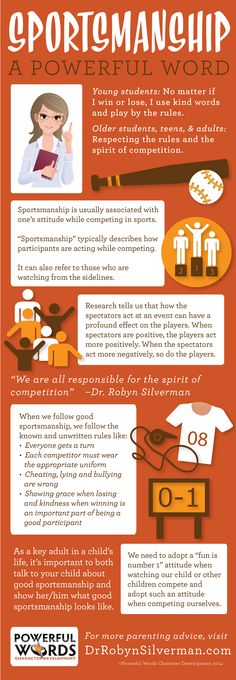#Sportsmanship! A Powerful Word! More parenting tips at DrRobynSilverman.com