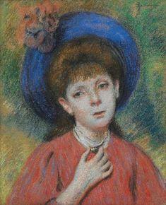 Федерико Дзандоменеги. Девочка в синей шляпе