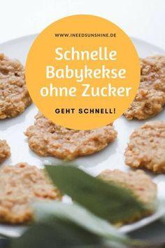 Baby Kekse ohne Zucker: Zuckerfrei Backen für Kinder. Schnelles und einfaches Rezept, gesund mit Apfelmus und Haferflocken für Babys. Egal ob 1 Jahr oder jünger, auch für Kleinkinder geeignet.