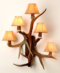 antler lamp - could also use tree branches