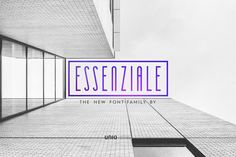 Unio presents Essenziale Font Family Free Demo! Essenziale is how Unio see the contemporary cleanliness and essentiality /Volumes/Marketing/_MOM/Design Freebies/Free Design Funky Fonts, Cool Fonts, Pretty Fonts, Beautiful Fonts, Business Brochure, Business Card Logo, Online Business, Free Design Resources, Fonts