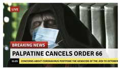 hilarious can't stop laughing funny Funny Memes Star Wars Coronavirus Quarantine Can't Stop Laughing Star Wars Padme, Star Wars Witze, Star Wars Jokes, Funny Star Wars, Memes Humor, New Memes, Boss Humor, George Peppard, Inappropriate Memes