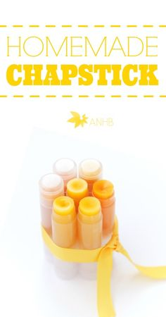 This is my favorite homemade chapstick recipe!