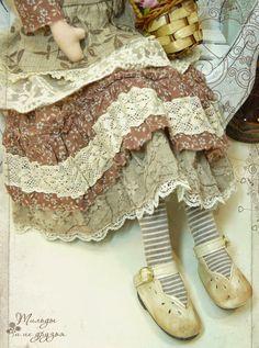 ПРОДАНА  ЦЕНА 6 000р.  Купить Тильду    Девушка Жаннет из коллекции Бохо . В одежде девушки использованы теплые тона коричневого...
