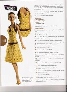 Dress for model muse body Diy Barbie Clothes, Sewing Doll Clothes, Sewing Dolls, Barbie Sewing Patterns, Doll Dress Patterns, Clothing Patterns, Fashion Dolls, Moda Fashion, Habit Barbie