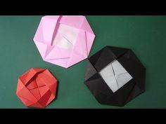"""花の折り紙「カメリア」折り方Flower Origami""""Camellia"""" - YouTube"""
