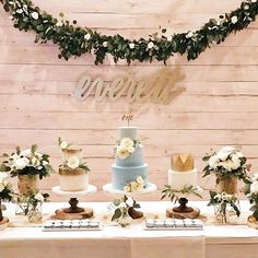 Happy Tuesday! Loving this 1st Birthday set up for Everett! Design, styling, &  florals by @stylechicevents and cakes & desserts from @sweetnsaucyshop  #letterstou #handdrawn #handlettering #calligraphy #customnamesign #lasercut #firstbirthday #everett #etsyshop #biprtastemaker