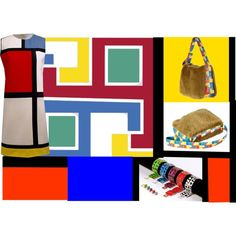 New Mondrian - MCreations - Martina Tittonel Fashion Design Accessory by alvufashionstyle on Polyvore featuring moda, Yves Saint Laurent, alvufashionstyle, martinatittonel, MCreations and newmondrian