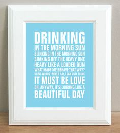 Elbow One Day Like This Red Lyric Typography Art Print inch in Music, Music Memorabilia, Pop, Posters First Dance Songs, Days Like This, I Love You Forever, Shake It Off, Quotable Quotes, Music Notes, Love And Marriage, Music Lyrics, Lettering
