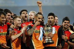 Shikhar Dhawan twirls his moustache as he celebrates with his team-mates. Cricket Sport, Cricket Match, Kane Williamson, Match Score, Shikhar Dhawan, Cricket Wallpapers, Team Wallpaper, David Warner, Wallpaper Downloads
