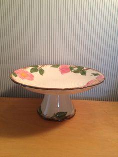 Vintage Desert Rose Franciscan ware Pedestel by NorthernCousin
