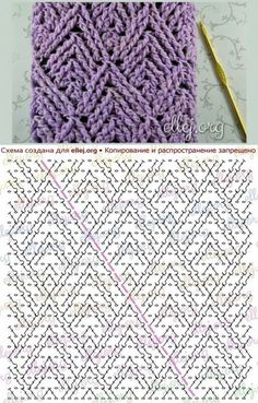 26 New Ideas For Crochet Scarf Diagram Charts Knit Patterns Crochet Scarf Diagram, Crochet Cable Stitch, Crochet Stitches Chart, Gilet Crochet, Crochet Motifs, Knitting Stitches, Knitting Patterns, Crochet Patterns, Afghan Patterns