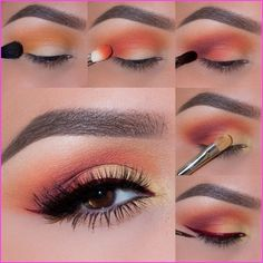 How to do French marigold photo eye makeup tutorial