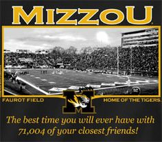 Missouri Tigers Football T-Shirts - Welcome To My House Faurot Field