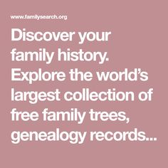 Discover your family history. Explore the world's largest collection of free family trees, genealogy records and resources(.Natal Deceased Estates 1846 to Family Tree Search, Free Family Tree, Family Trees, Family History Center, John Hart, Tree Information, Catalog Printing, History Activities, Youth Activities