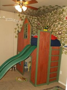 Full Height Playhouse Loft Bed