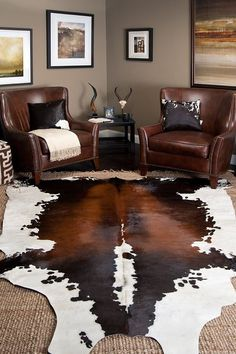 Cow skin rug with jute. I have this cowhide bought from IKEA $240AU <3