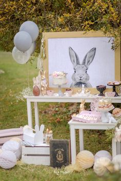 Countryside Bunny Party via Kara's Party Ideas Easter Birthday Party, Bunny Birthday, 1st Birthday Girls, 1st Birthday Parties, Spring Birthday Party Ideas, Peter Rabbit Party, Peter Rabbit Birthday, Bunny Party, Baby Shower