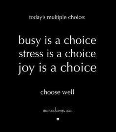 Joy is a choice!