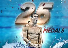 25 total medals, 21 gold medals...and he still has three more events.