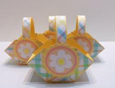 Easter Baskets, Easter Favor Boxes, Easter Birthday Favors, Easter gift basket- set of 4.. $14.00, via Etsy.