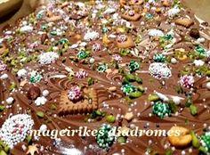 Σπασμένη και κομμένη σοκολάτα για δωράκια