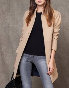Structured coat with pockets - Jackets Weekly Outfits, Fall Outfits, Casual Outfits, Cute Outfits, Friday Outfit For Work, Love Fashion, Fashion Looks, Fashion News, Moda Paris