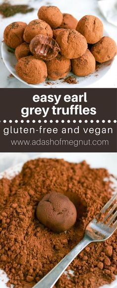 You'll love the flavor of these easy gluten-free vegan earl grey chocolate truffles! And with just a few ingredients you'll want to make them all the time!