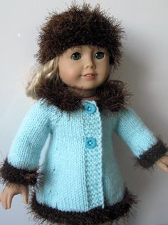 MAD MEN classic A-line Knitting Pattern for AMERICAN GIRL 18 inch doll