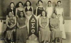 The Alpha Gamma Chapter of Delta Sigma Theta sorority- 1937.