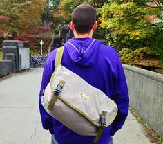 Slipstream Messenger Bag From Recycled Waders