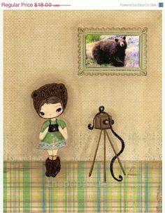 Bear Print Photographer Camera Girl Children Wall por thepoppytree, $16.20