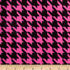 Minky Houndstooth Hot Pink/Black from @fabricdotcom  This extraordinary soft and cuddly fabric has a smooth minky surface and soft 3 mm pile. It's perfect for baby accessories, blankets, throws, pillows and stuffed animals. Colors include dark hot pink and black.