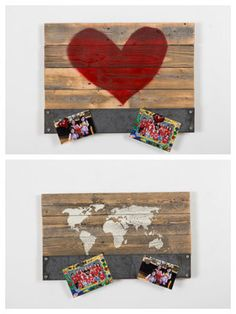 Reclaimed Wood Signs with Magnet Holders