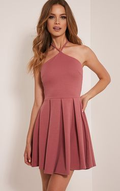 Marnia Rose Triangle Neckline Prom Dress