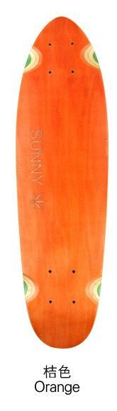 """SUNNY"" Canadian Maple Longboard / Skateboard With Pot Leaf, 5 Colors, Free Shipping!!"