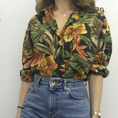 3344a73349 Holly' Tropical Print Short Sleeve Shirt | Fashion,Art, Quotes and ...