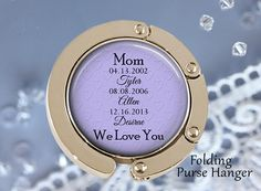 SALE Personalized Purse Hanger  Mom we love you  Gift for