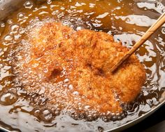 The first katsu's the deepest: Tonkatsu, a breaded and deep-fried pork cutlet, is one of the most popular pork dishes in Japan, and can be served in several ways — including as katsudon (below), topped with onion and scrambled egg and served over rice. Japanese Cooking Knives, Japanese Dishes, Japanese Recipes, Japanese Food, Turkey Fryer Oil, Best Turkey Fryer, Pork Recipes, Asian Recipes, Asian Foods