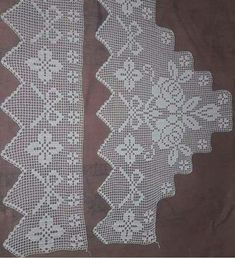 Crochet Borders, Filet Crochet, Crochet Patterns, Doilies, Diy Crafts, Handmade, Instagram, Knit Baby Patterns, Crochet Lace Edging