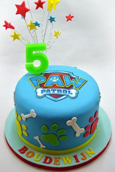Need a birthday cake for a party in Brussels? Need a corporate cake? We will design your cake with pleasure. Call us on 483 69 09 63 to book your cake. Torta Paw Patrol, Paw Patrol Cupcakes, Paw Patrol Birthday Cake, 3rd Birthday Cakes, Paw Patrol Party, Character Cakes, Cakes For Boys, Creative Cakes, Celebration Cakes