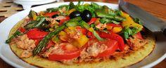 Italy/Southern France: Roasted Vegetable, Hummus and Sun Dried Tomato Farinata aka Socca