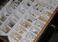 Ice Cube Trays, Re-Purposed for Jewelry Organization