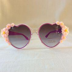 Bonnie  Embellished Purple Heart Sunglasses by PinksAndMinks