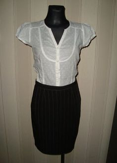 #spodniczka #prazki #elegancja #klasyka #olowkowa #spodnieczkaolowkowa #spodniczkawprazki #eleganckaspodniczka #klasycznaspodniczka #dokolan #rozmiar36 #nowa #wyprzedazszafy #sprzedam #wymienie